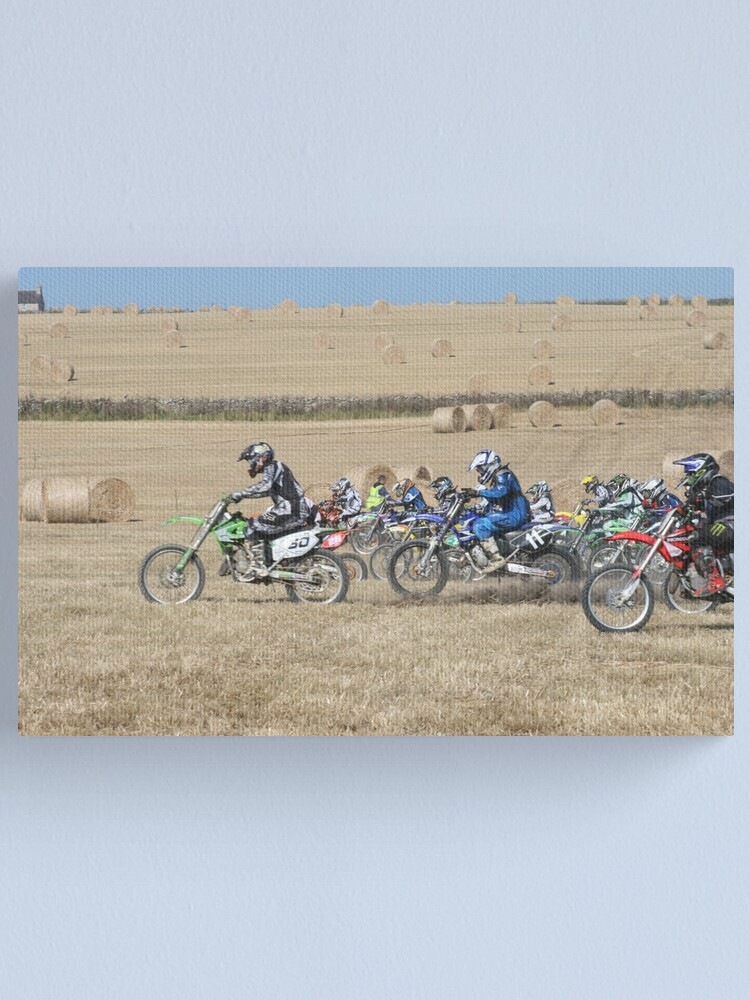 Alternate view of And they're off... Canvas Print