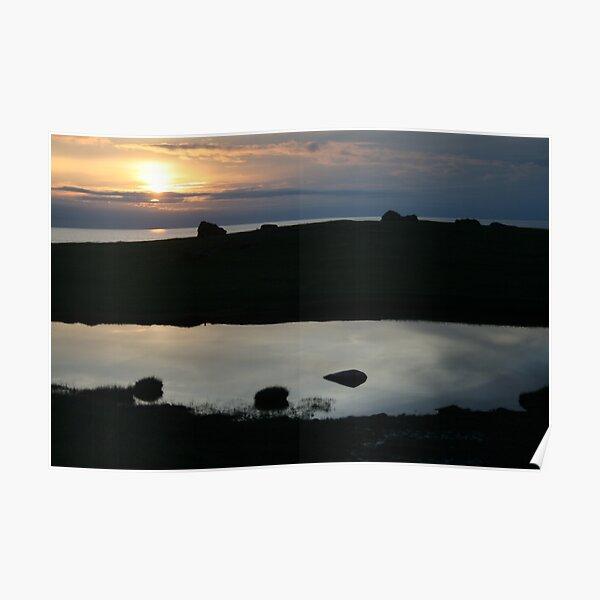Eshaness sunset Poster