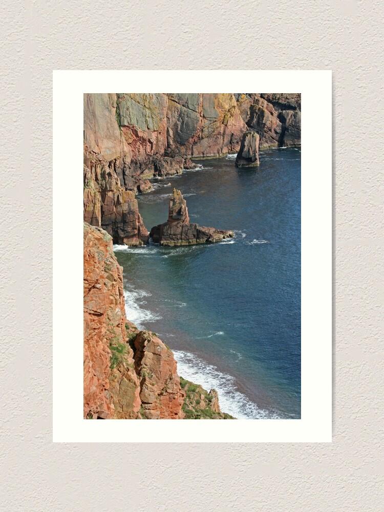 Alternate view of Shetland's riviera? Art Print