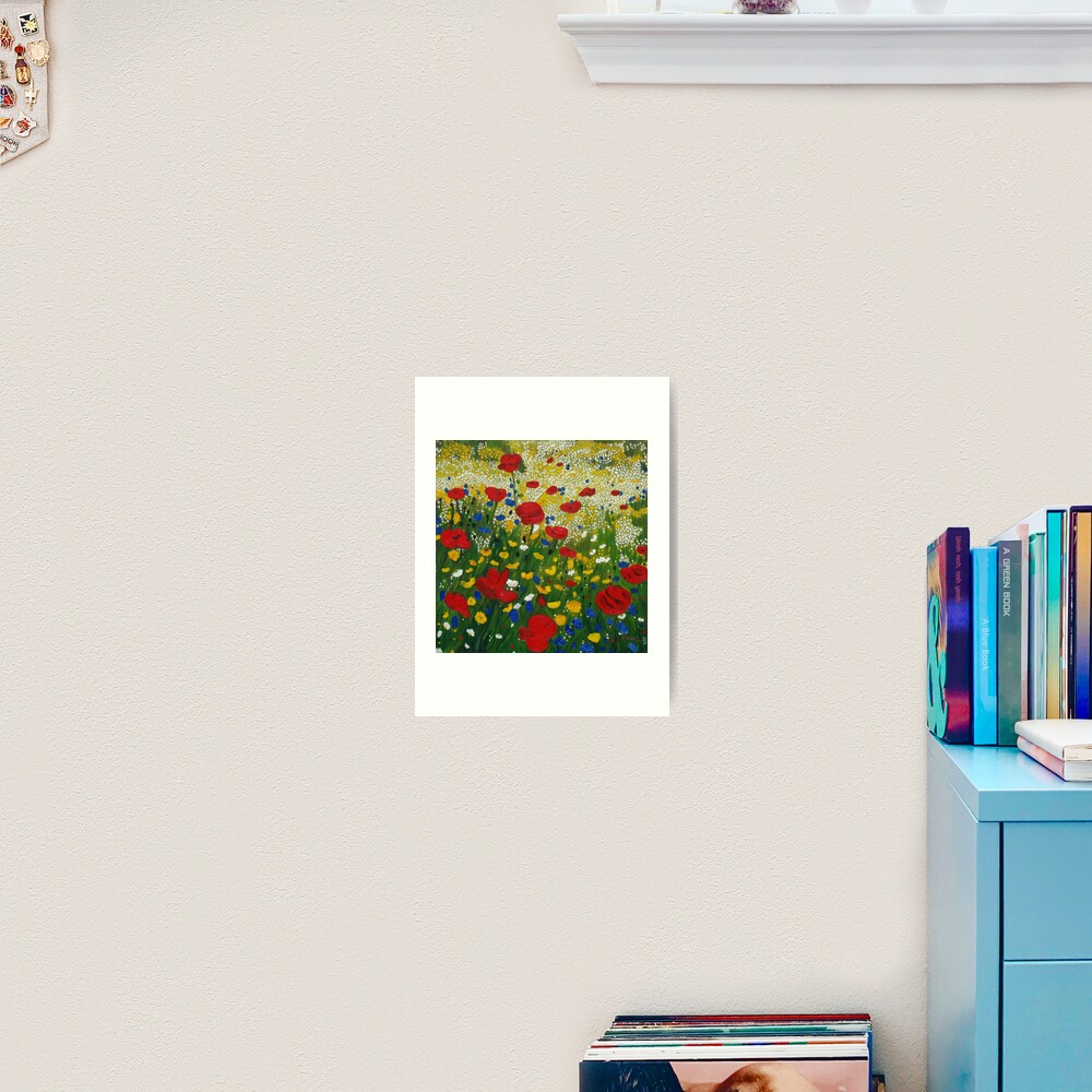 Poppy Madness Art Print