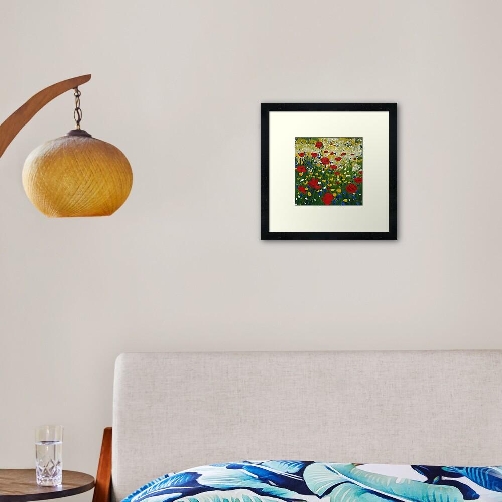 Poppy Madness Framed Art Print