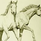 Two Horses by Charles Adkison