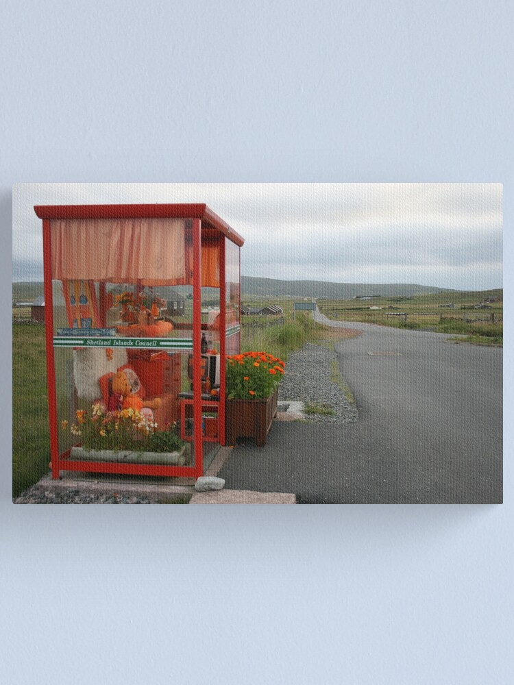 Alternate view of Waiting for the bus Canvas Print