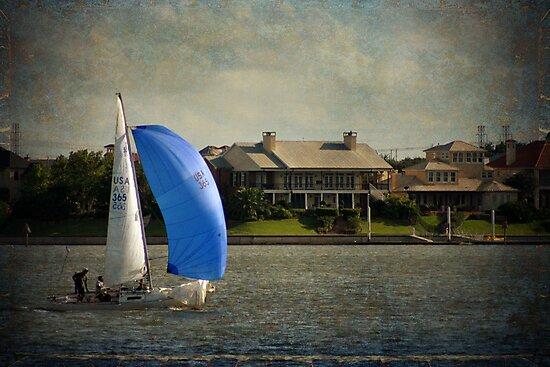 Sailing on Clear Lake by gnolanphoto