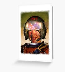 Space Racer Greeting Card