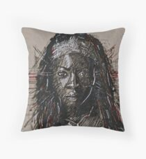 The Walking Dead Michonne Throw Pillow