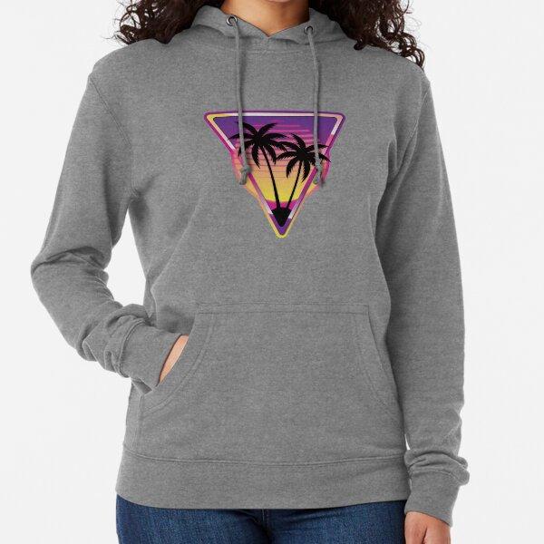 Pink Vaporwave Island Lightweight Hoodie