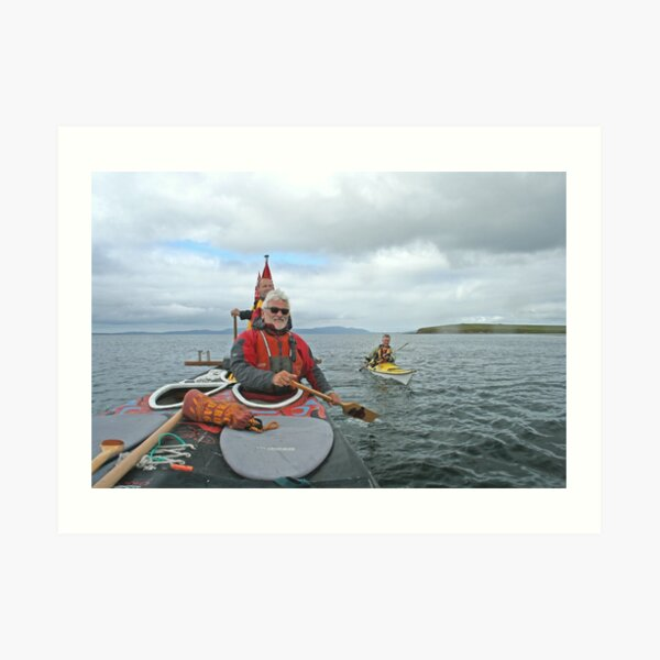 Kayak escort Art Print