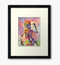 Rainbow Skeleton Framed Print