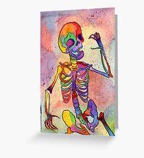 Rainbow Skeleton Greeting Card