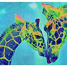 blue giraffes by jashumbert