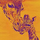 giraffe love by jashumbert