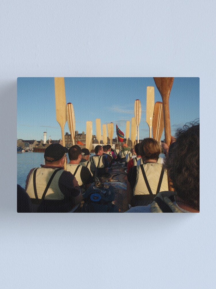 Alternate view of Paddles up Canvas Print