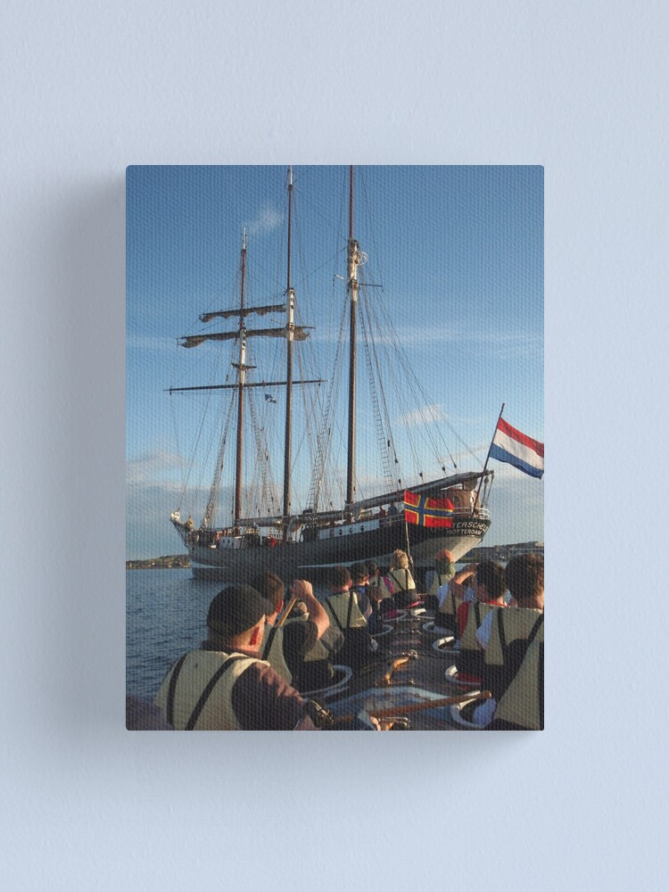 Alternate view of Under the stern Canvas Print