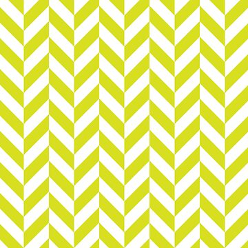 Chartreuse Offset Chevrons by ImageNugget