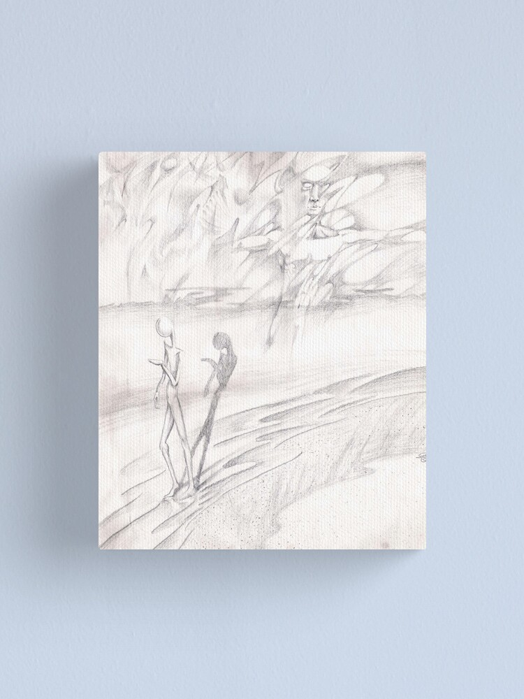 Alternate view of Shore (Drawing for Shoreline) Canvas Print