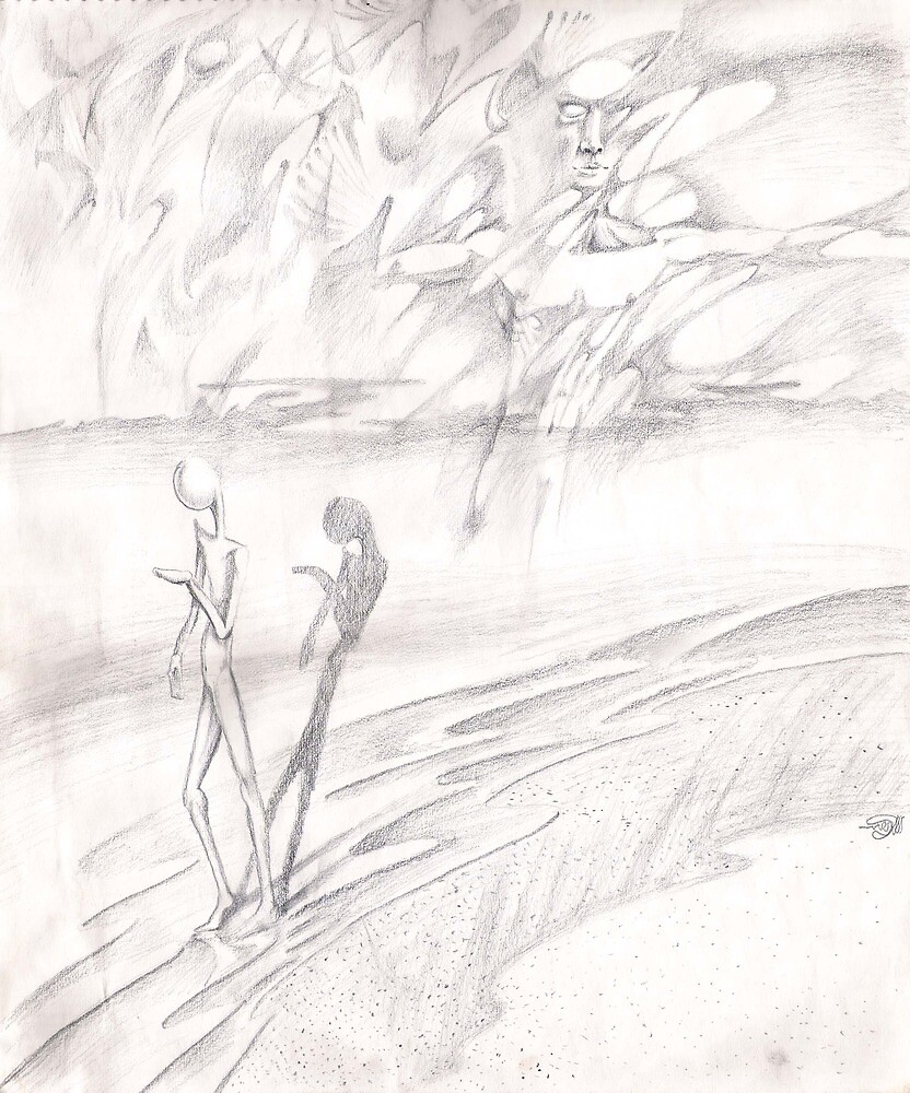 Shore (Drawing for Shoreline) by Davol White