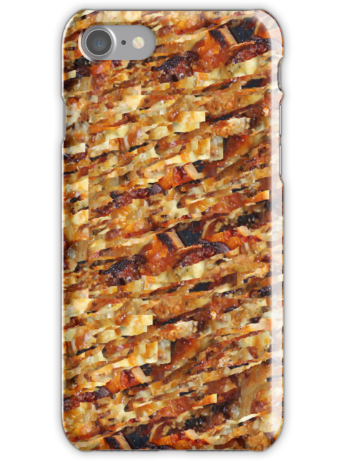 Pizza Pattern - iPhone Case by Cecily McCarthy