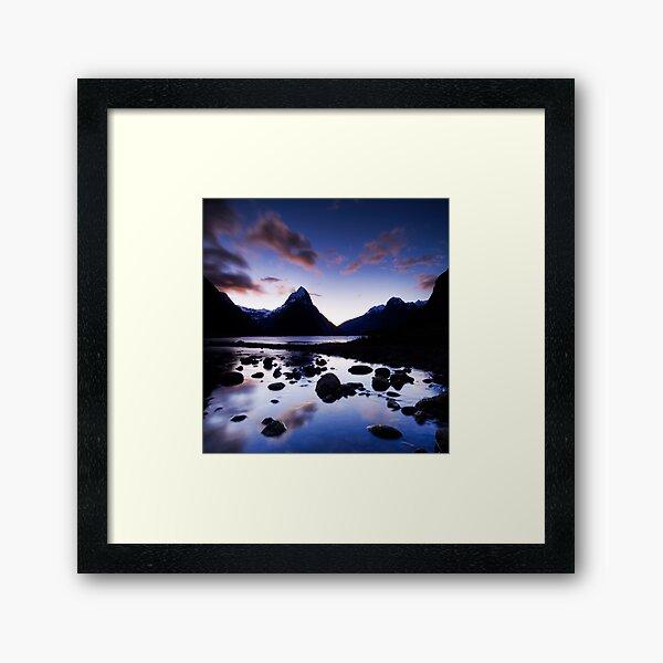 Milford Sound, Last Glow Framed Art Print
