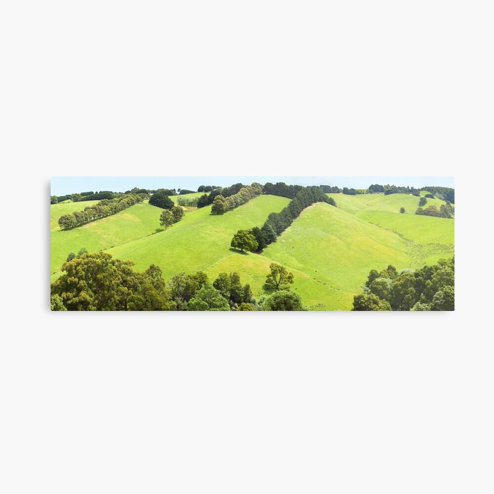 Rolling Green Hills, Gippsland, Australia Metal Print