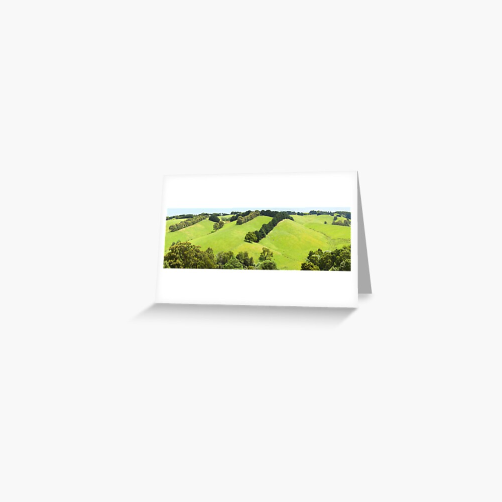 Rolling Green Hills, Gippsland, Australia Greeting Card