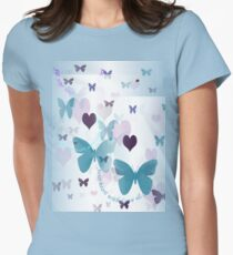 """""""Fill Your Heart with Love & Joy ..."""" Womens Fitted T-Shirt"""