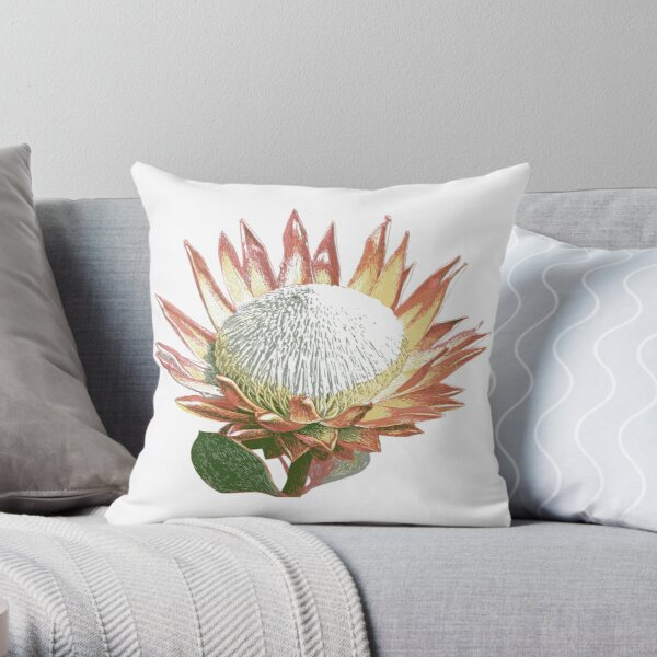 South African King Protea pillows Throw Pillow