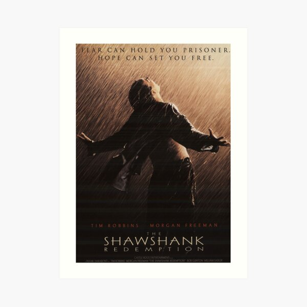 The Shawshank Redemption Pose Giclee Canvas Movie Picture Poster Art
