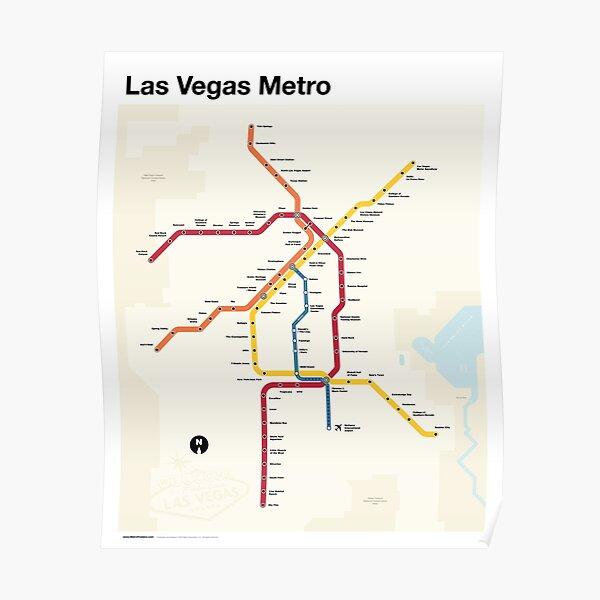 Las Vegas Metro (Fantasy Subway Map, Las Vegas, Nevada) Poster