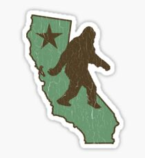 California Bigfoot (Vintage Distressed-Look) Sticker
