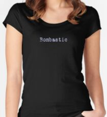 Bombastic T-shirt - Important Sounding Black Tee Women's Fitted Scoop T-Shirt