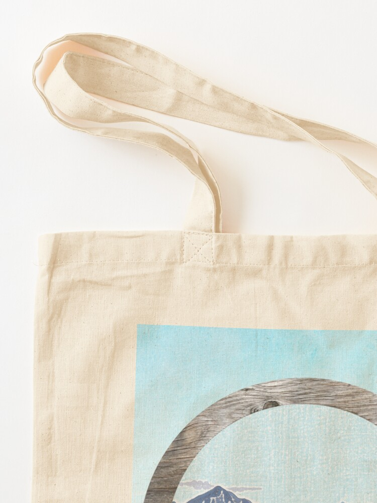 Alternate view of Looking to the mountains Tote Bag