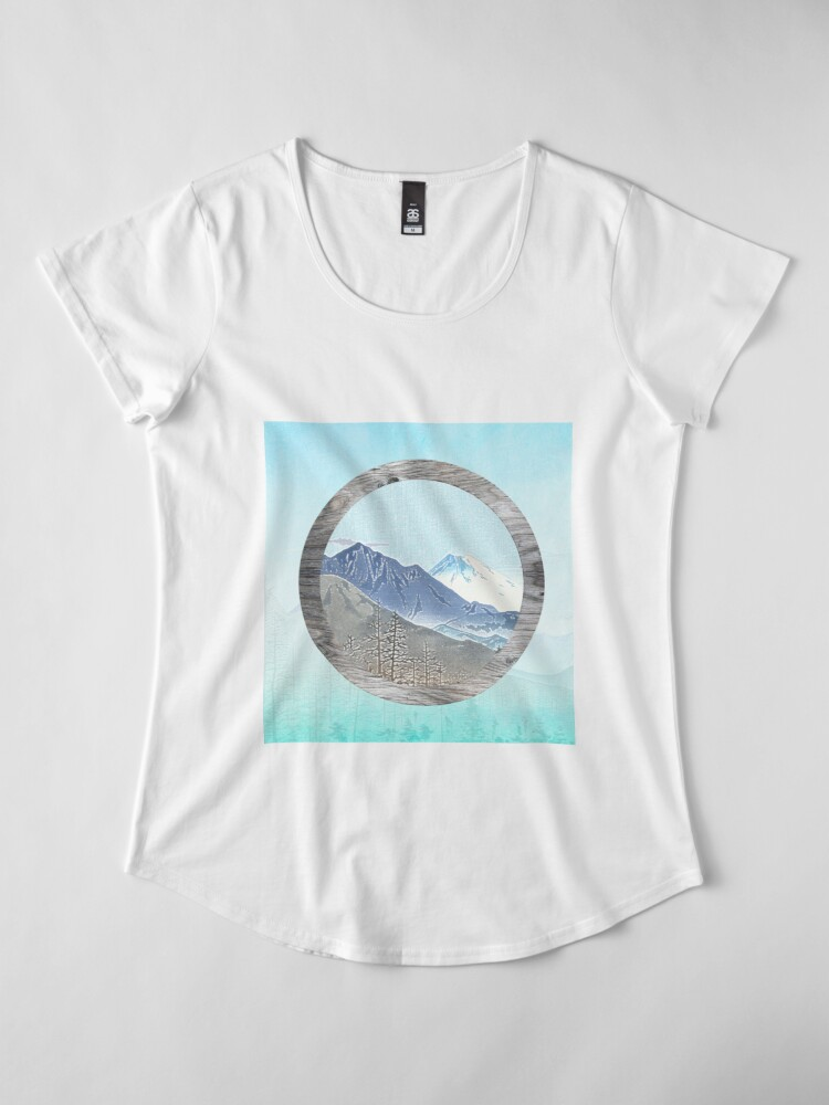 Alternate view of Looking to the mountains Premium Scoop T-Shirt