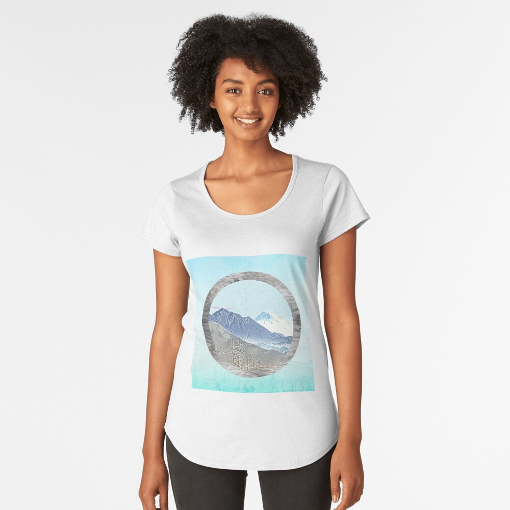 Looking to the mountains Premium Scoop T-Shirt