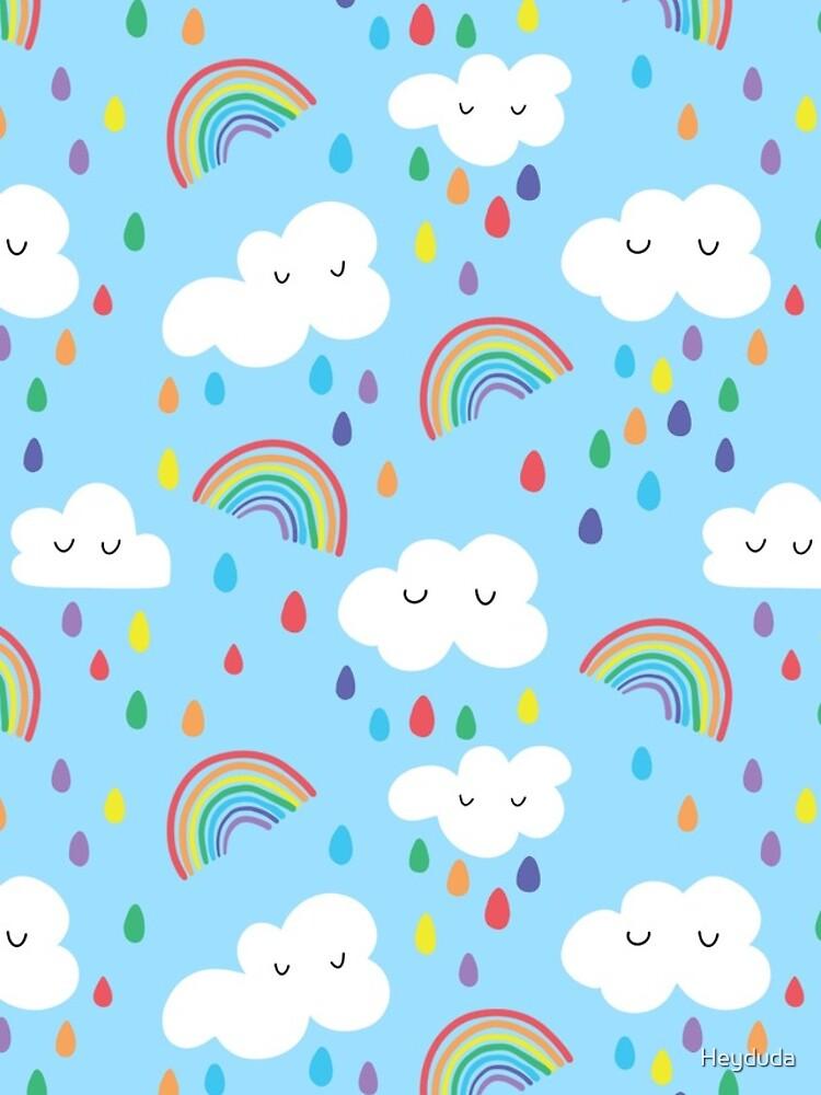 Rainbow and clouds by Heyduda