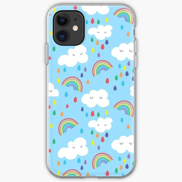 Rainbow and clouds iPhone Soft Case