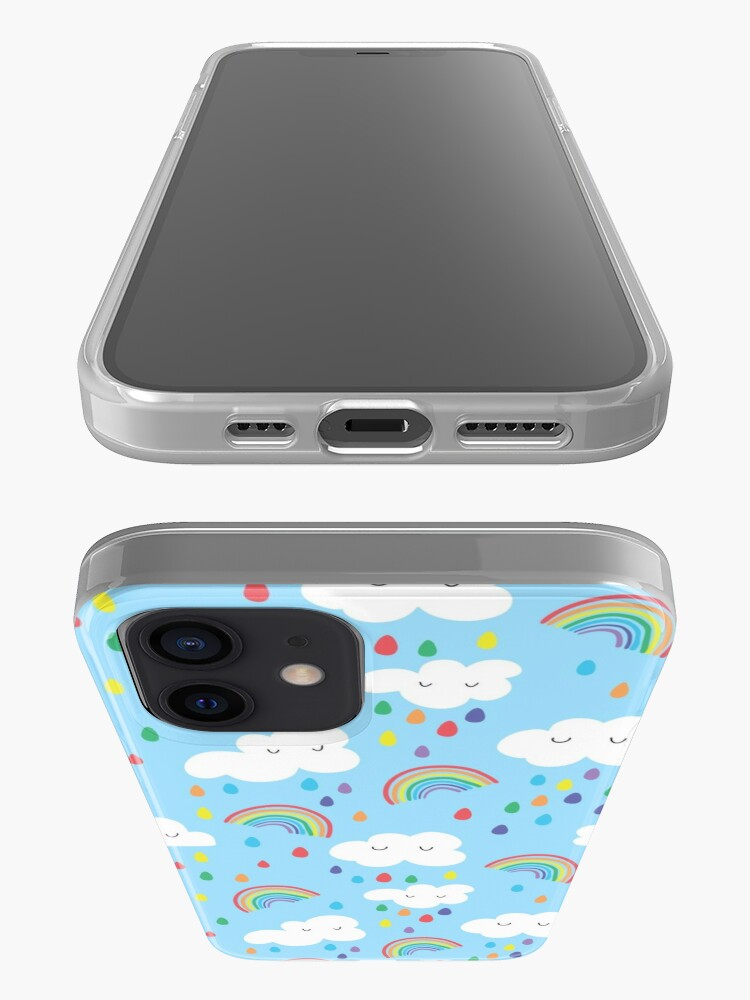 Alternate view of Rainbow and clouds iPhone Case