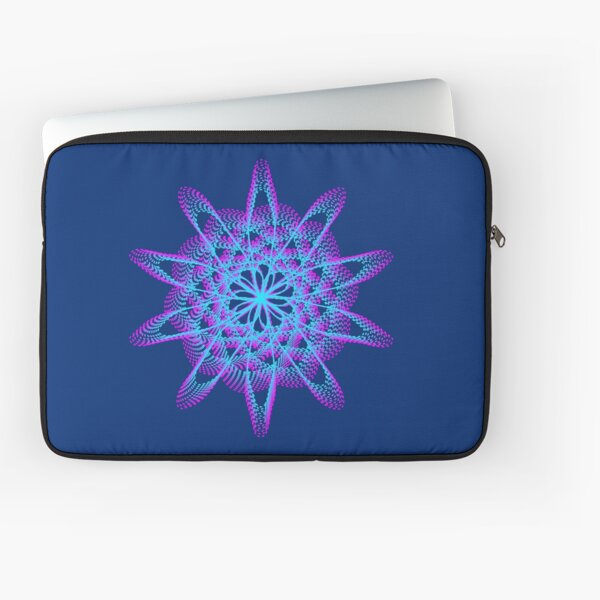 Spirograph with pink and blue Laptop Sleeve