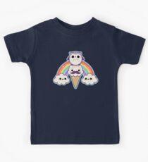 Owl Cream Cone with Rainbow Kids Tee