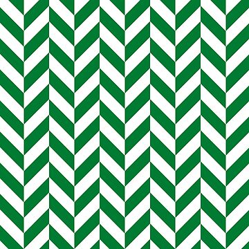 Green Offset Chevrons by ImageNugget
