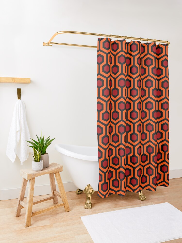 Alternate view of The Shining/Doctor Sleep - Overlook Carpet Pattern Shower Curtain