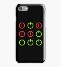 Power Up! Power Off! Hacker Glider Symbol iPhone Case/Skin
