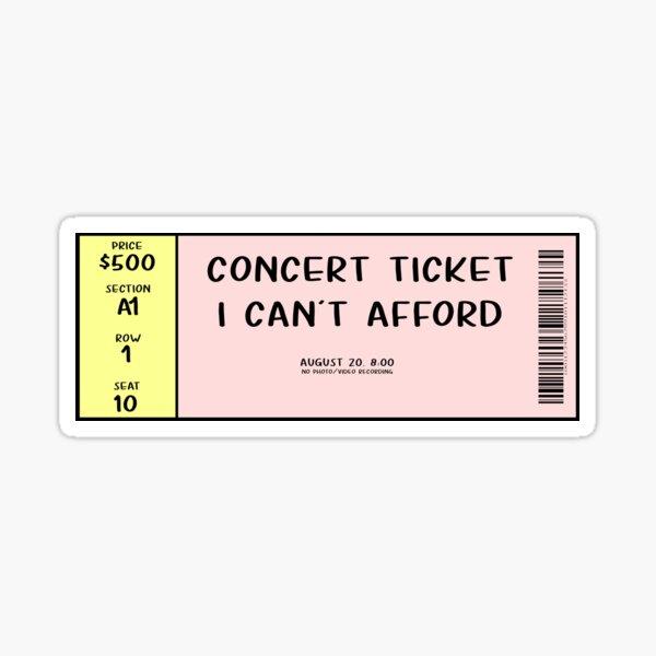 Concert Ticket Ticketmaster Sticker
