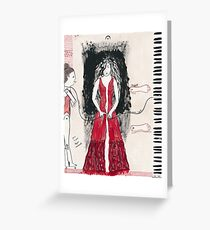 Self-Portrait as a Pianist Greeting Card