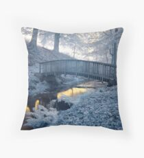 Blue over Gold Throw Pillow