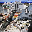 A view of Arrecife (Lanzarote) from a vantage point by Ben Cresswell