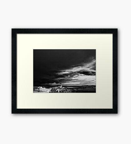 Approaching storm Framed Print