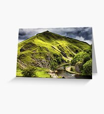 Dovedale, Thorpe Cloud Stepping Stones Greeting Card