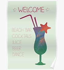 Welcome beach bar Poster