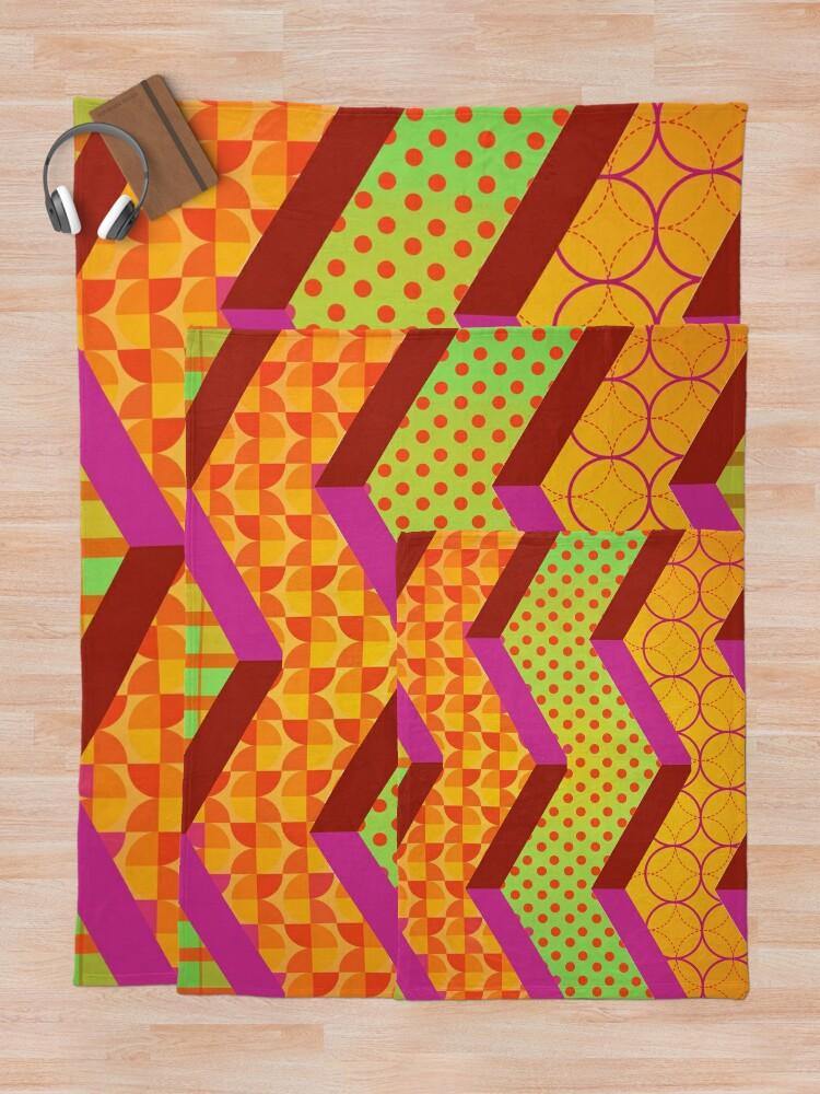 Alternate view of Moroccan Mosaic Bohemian Hippie Artwork Throw Blanket